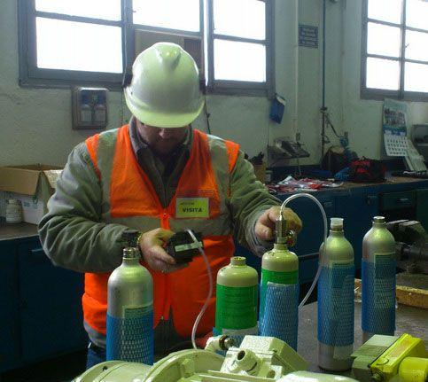 Calibración de detectores de gases